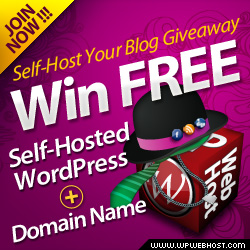 Self-Host Your Blog Giveaway: Win FREE Self-Hosted WordPress Hosting + Domain Name